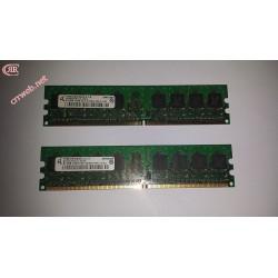 RAM Qimonda 1GB DDR2 533 MHz 2x512 MB Usado