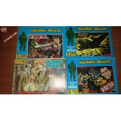 Lote de 4 comics de Hazañas bélicas de 1987 y 1990