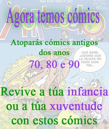 Comics antigos dos anos 70, 80 e 90